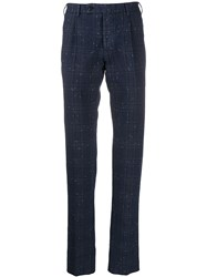 Gabriele Pasini Checked Tailored Trousers Blue