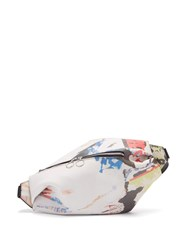 Marques Almeida Poster Print Leather Belt Bag Multi