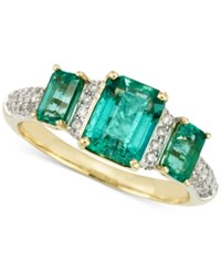 Rare Featuring Gemfield's Rare Featuring Gemfields Certified Emerald 1 7 10 Ct. T.W. And Diamond 1 5 Ct. T.W. Ring In 14K Gold