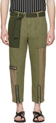 3.1 Phillip Lim Green Patchwork Flight Trousers