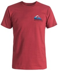 Quiksilver Men's Graphic Print T Shirt Garnet