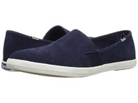 Keds Chillax A Line Perforated Suede Peacoat Navy Women's Slip On Shoes