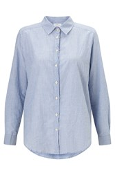 Velvet Claire Thin Stripe Shirt Blue
