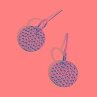 Jigsaw Hammered Disc Earrings