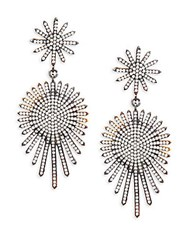 Azaara Crystal And Sterling Silver Drop Earrings