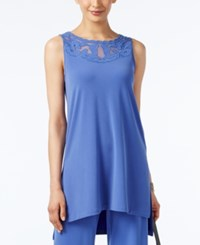 Alfani Petite Illusion High Low Tunic Only At Macy's Alf Pery Blue