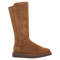 Ugg Abree Flat Long Boots Dark Brown Suede