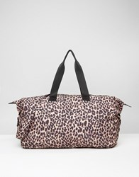 Asos Lifestyle Slouchy Leopard Holdall Leopard Multi