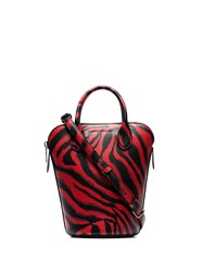 Calvin Klein 205W39nyc Red Dalton Mini Tiger Print Leather Bucket Bag