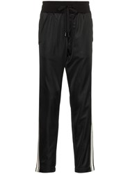 Dolce And Gabbana Logo Striped Track Pants Black