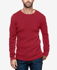 Lucky Brand Men's Lived In Thermal T Shirt Biking Red