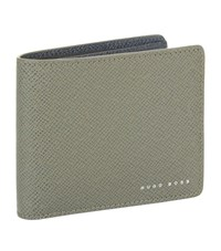 Boss Billfold Leather Wallet Unisex Grey