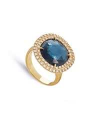 Marco Bicego Jaipur 18K London Blue Topaz And Diamond Cocktail Ring