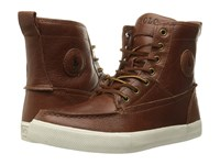 Polo Ralph Lauren Tynedale Tan Grained Pullup Vach Men's Lace Up Boots Brown