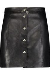 Iro Leather Mini Skirt Black