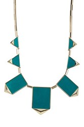 House Of Harlow Classic Station Pyramid Necklace Green