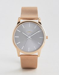 Limit Mesh Watch In Rose Gold Exclusive To Asos Rose Gold