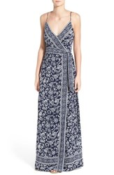 Women's Paige Denim 'Regina' Print Maxi Surplice Dress