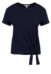 Tom Tailor Denim Print Tshirt Real Navy Blue Dark Blue