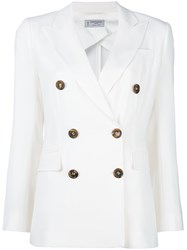 Alberto Biani Double Breasted Jacket White