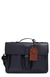 Ted Baker Leather Satchel Navy