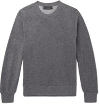 Stella Mccartney Ian Textured Cotton Blend Sweatshirt Gray