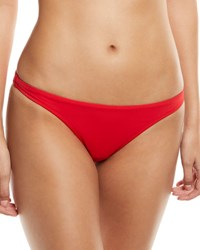 Milly St. Lucia Solid Bikini Swim Bottoms Red