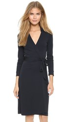 Diane Von Furstenberg New Jeanne Two Wrap Dress Navy