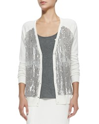 Haute Hippie V Neck Cardigan W Sequined Front Women's