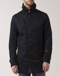 G Star Navy Blue Garber Trenchcoat