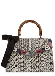 Gucci Lilith Snake Tote White And Black