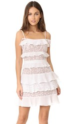 For Love And Lemons Cosmic Tiered Lace Dress White