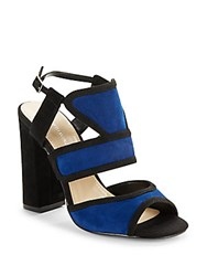 Saks Fifth Avenue Leather Sandals Dazzling Blue