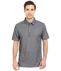Travis Mathew Crenshaw Polo Heather Castlerock Men's Short Sleeve Pullover Gray