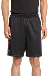 Nike Men's 'Elite Stripe' Basketball Shorts Black University Red
