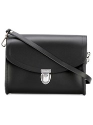 The Cambridge Satchel Company Medium Pushlock Crossbody Bag Black