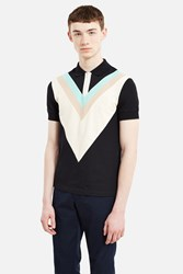 Fred Perry Wide Chevron Pique Shirt Black