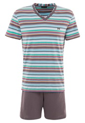 Hom Austin Pyjama Set Multicolour Grey