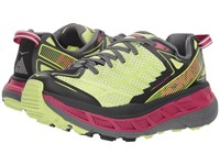Hoka One One Stinson Atr 4 Sharp Green Black Running Shoes Yellow