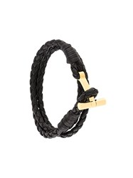 Tom Ford 'T' Fastening Interlaced Bracelet Brown