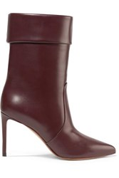 Francesco Russo Leather Boots Merlot