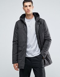 Another Influence Hooded Parka Jacket Black