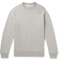 Aspesi Slim Fit Loopback Cotton Cashmere And Wool Blend Sweater Light Gray