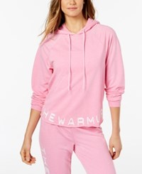 Jessica Simpson The Warm Up Burnout French Terry Hoodie Pretty Pansy