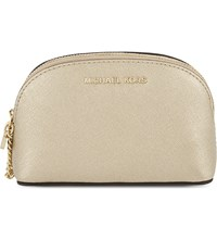 Michael Michael Kors Alex Small Leather Travel Pouch Pale Gold