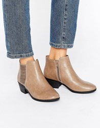 Call It Spring Lupica Laser Cut Chelsea Boots Taupe Beige