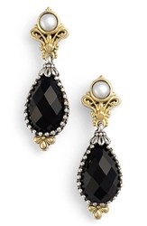 Women's Konstantino 'Nykta' Pearl And Black Onyx Drop Earrings