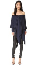 Kitx Suspended Poncho Drape Top Midnight