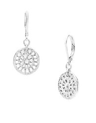 Lonna And Lilly Cutout Drop Earrings Silver