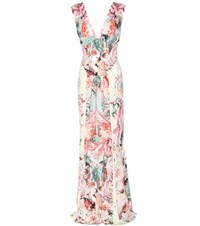 Roberto Cavalli Floral Printed Dress Multicoloured